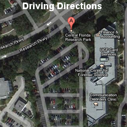 Get directions to central Florida Research Park